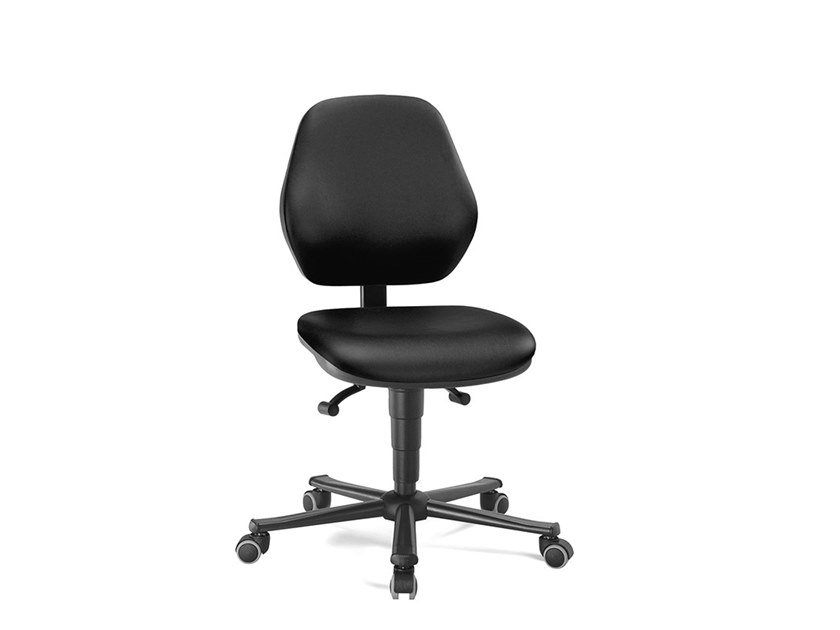 Laboratory chair with 5-Spoke base and casters LABOR BASIC 9133 by bimos
