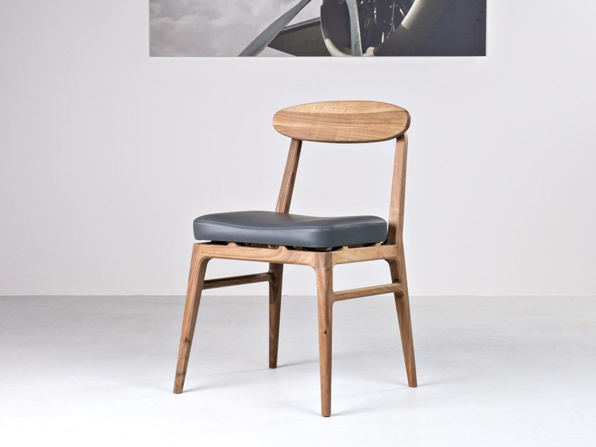 Solid wood chair with integrated cushion LABOR | Chair by HOOKL und STOOL