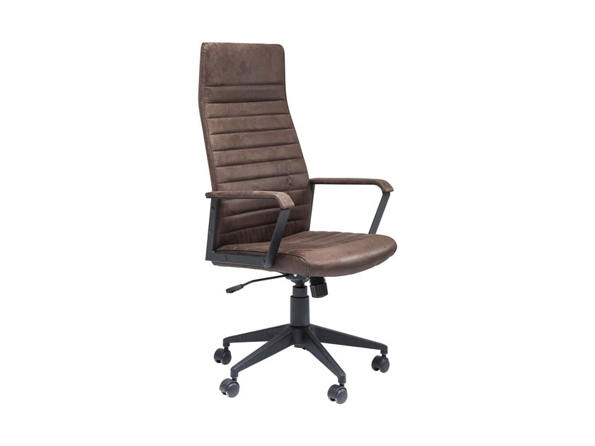 Polyester task chair with armrests LABORA HIGH by KARE-DESIGN