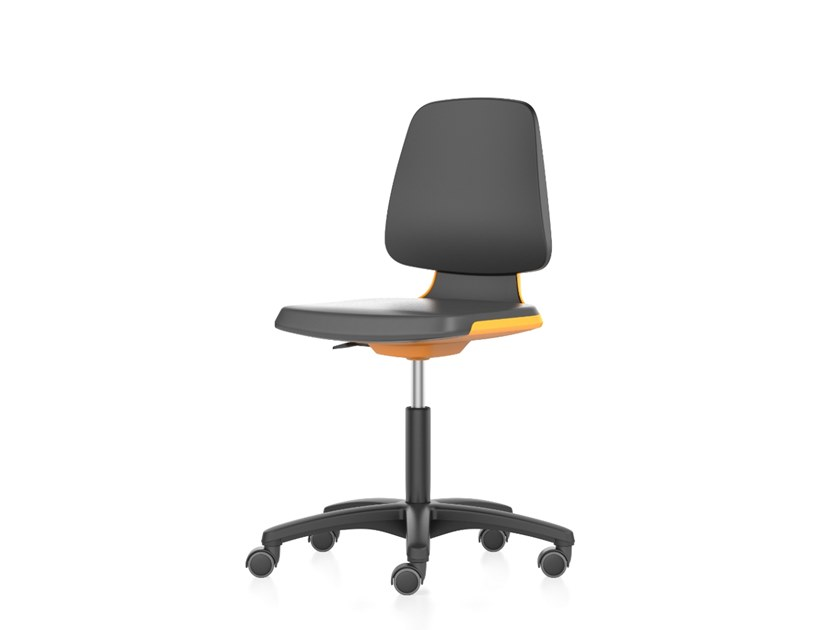 Laboratory chair with 5-Spoke base and casters LABSIT 9123 by bimos