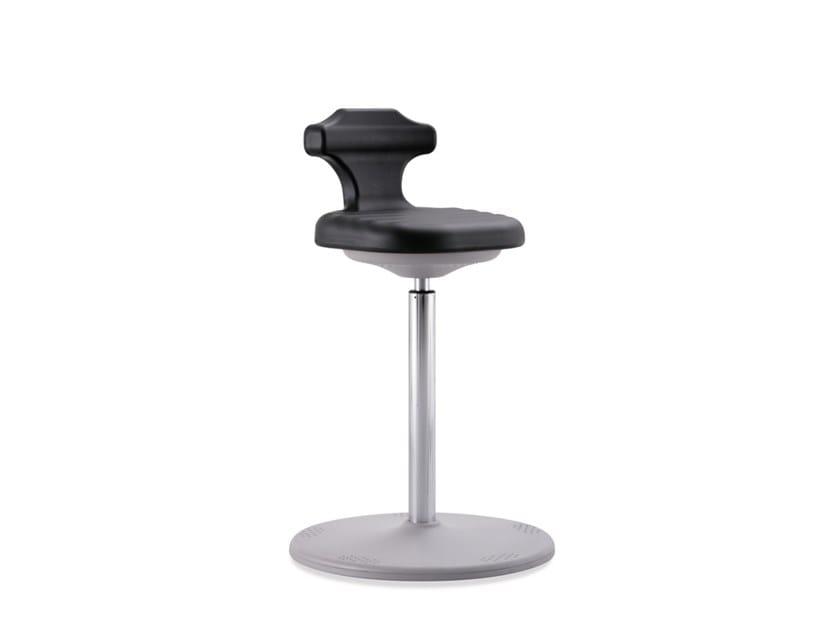 Swivel laboratory stool LABSTER 9106 by bimos