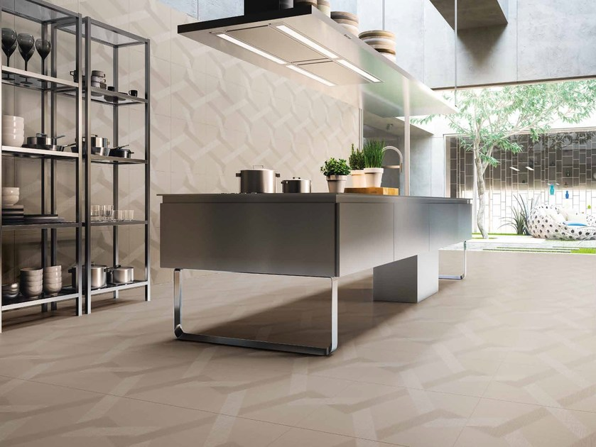 Porcelain stoneware wall/floor tiles with textile effect LABYRINTH by Ceramiche Refin