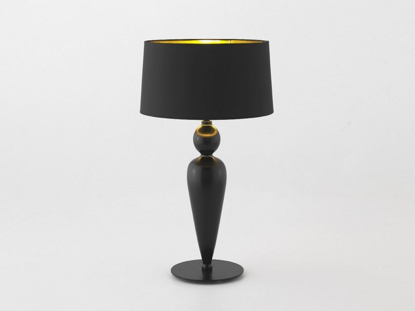 Wooden Table Lamp With Fixed Arm Lace By Aromas Del Campo