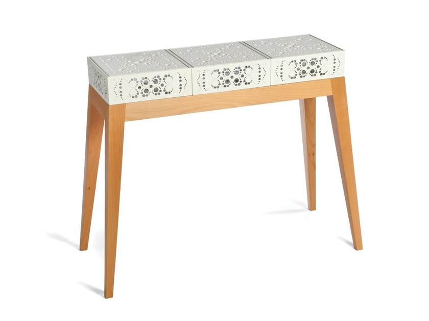 Lacquered rectangular console table LACE   Console table by Natalia Geci