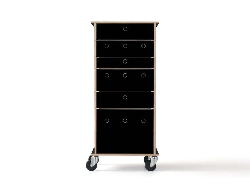 Modular plywood chest of drawers LADER by Nils Holger Moormann