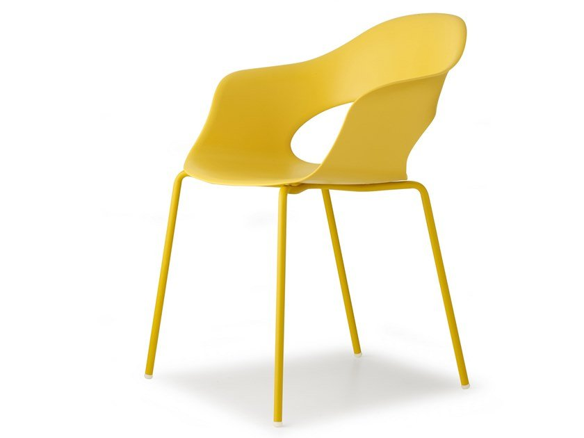Technopolymer chair with armrests LADY B | Chair by SCAB DESIGN