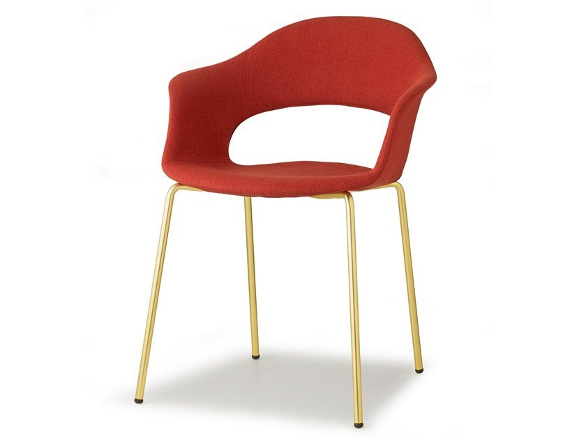 Fabric chair with armrests LADY B POP | Fabric chair by SCAB DESIGN