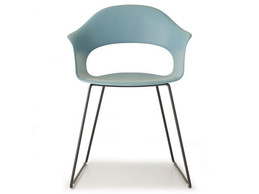 LADY B | Sled base chair