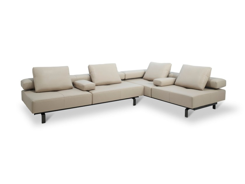 Modular Leather Sofa LADY By JORI