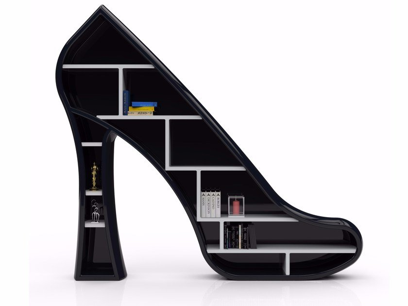 Freestanding Adamantx® bookcase LADY by ZAD ITALY