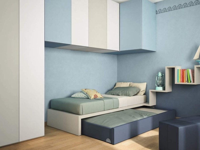 Trundle kids single bed lagolinea by lago design daniele lago for Letto colletto lago prezzo