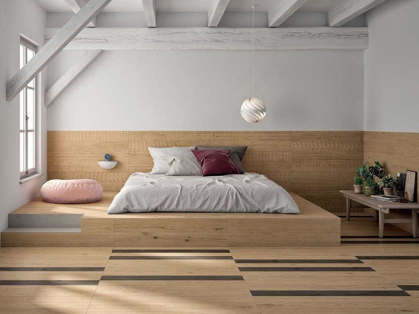 Porcelain stoneware wall/floor tiles with wood effect LAGOM NATURAL BLOND by Marca Corona