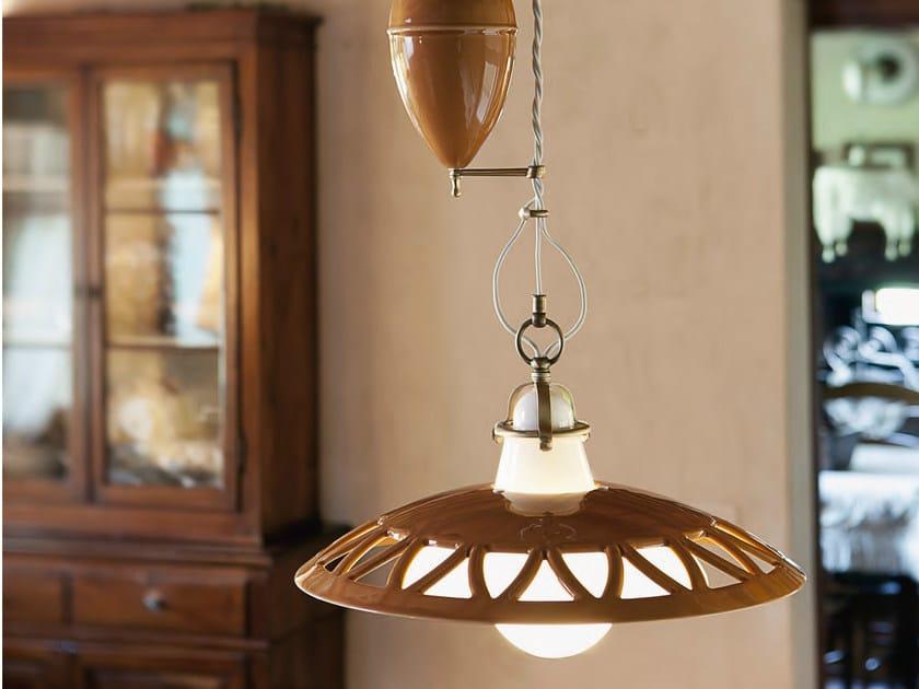 Ceramic pendant lamp laguna pendant lamp by aldo bernardi