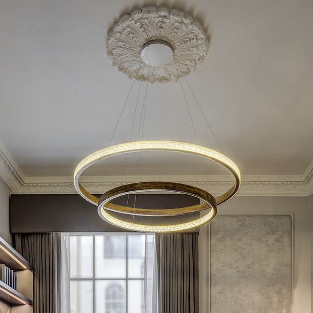 LED metal pendant lamp with dimmer LOHJA Cameron Design