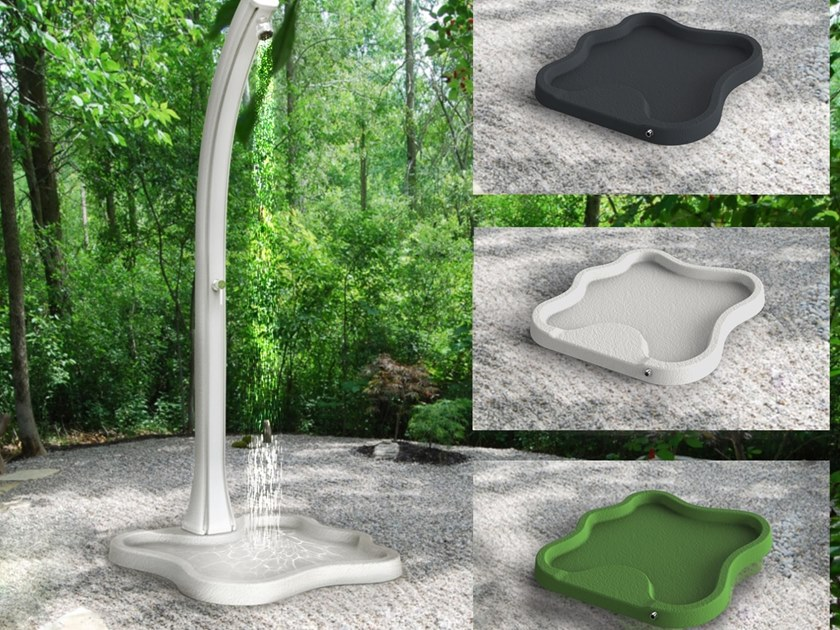 Anti-slip polyethylene shower tray LAKE by ARKEMA DESIGN