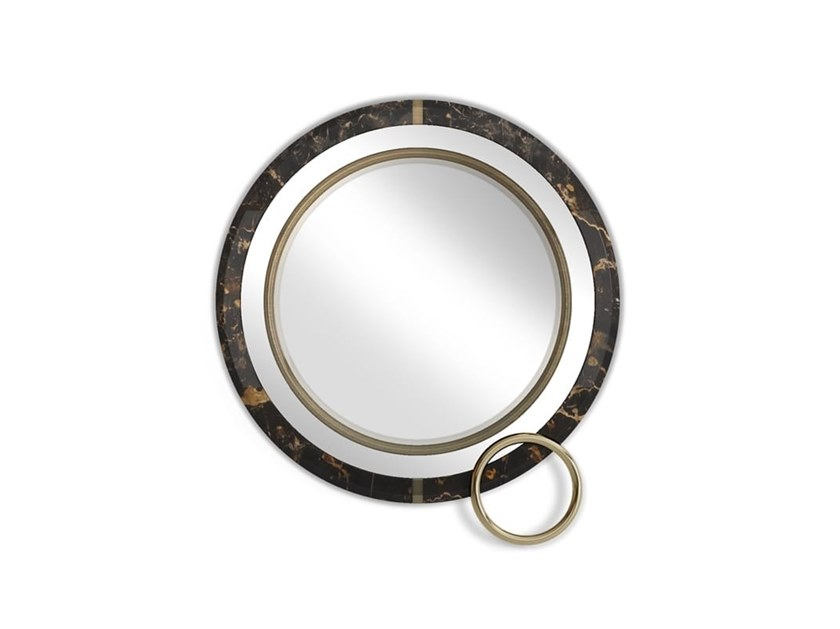 Round wall-mounted mirror LAKEWOOD by Porustudio