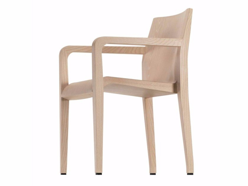 Wooden chair with armrests LALEGGERA ARMREST - 304 by Alias