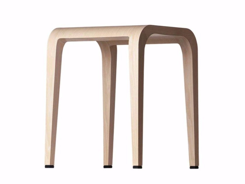 Wooden stool LALEGGERA STOOL - 310 by Alias