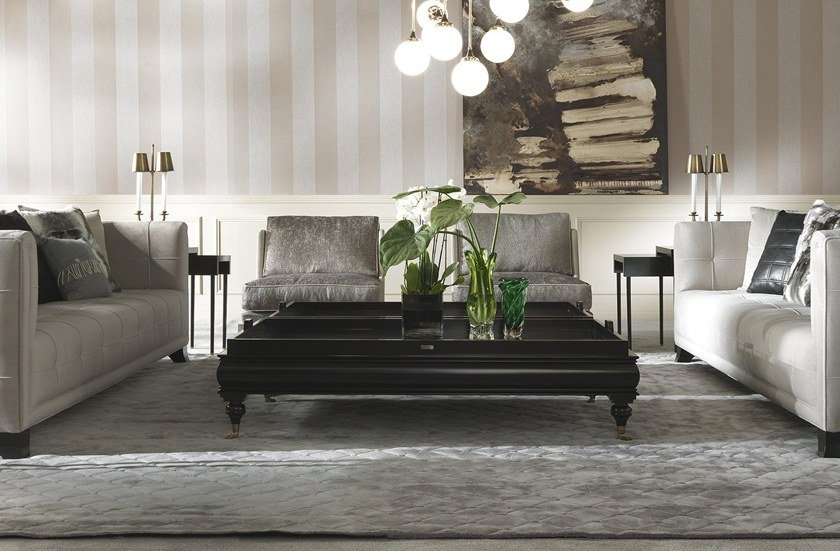 Lambert Home linden coffee table with tray lambert by gianfranco ferré home