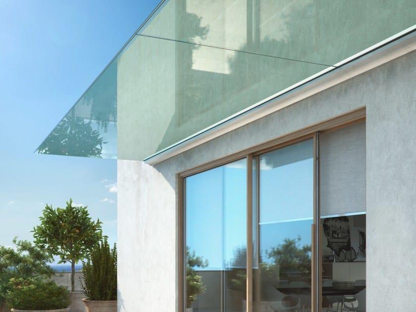 Glass door canopy LAMINA by ALUVETRO