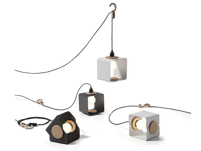 Industrial style swivel direct-indirect light powder coated aluminium pendant lamp LAMPANIA | Aluminium table lamp by Tabanda