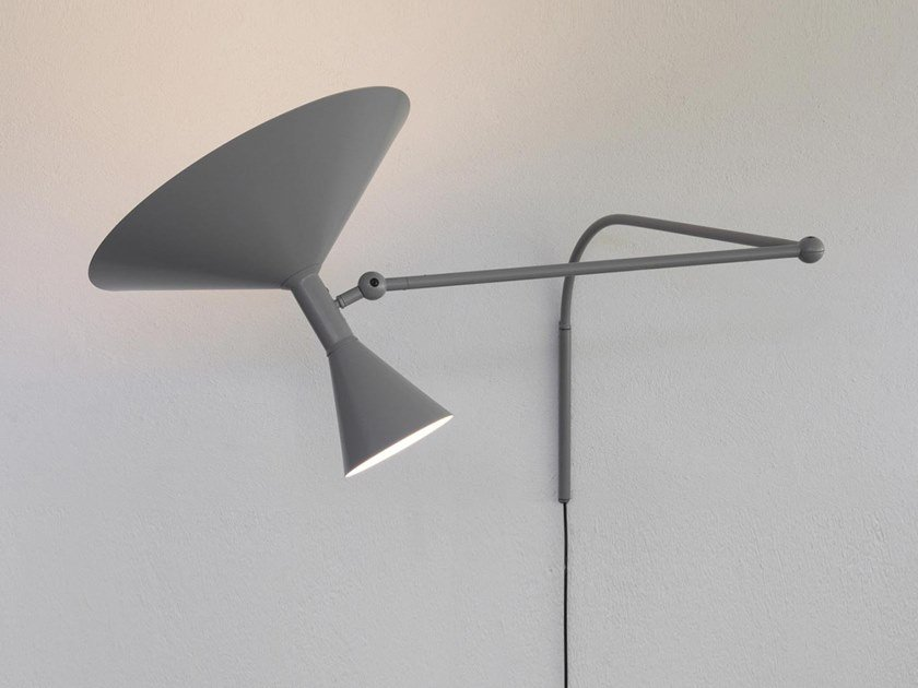Adjustable aluminium wall lamp LAMPE DE MARSEILLE by NEMO