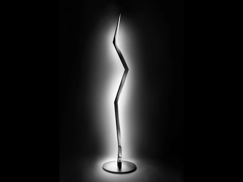 Aluminium floor lamp LAMPODA A by Lamberti Design