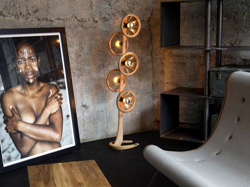 Contemporary style direct light handmade wooden floor lamp LAMPS | Floor lamp by HOOKL und STOOL