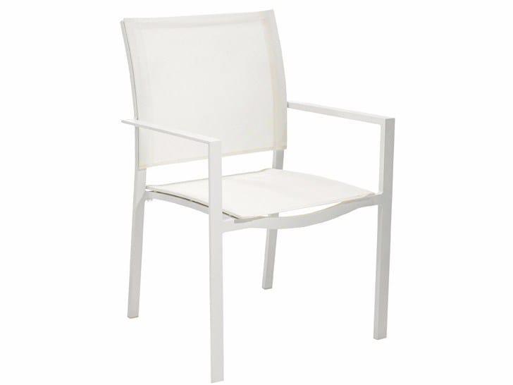 Stackable textilene garden chair LAMU by MOBIKA GARDEN
