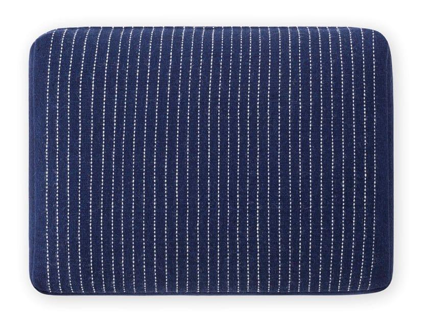 Striped rectangular wool cushion LAN | Striped cushion by GAN
