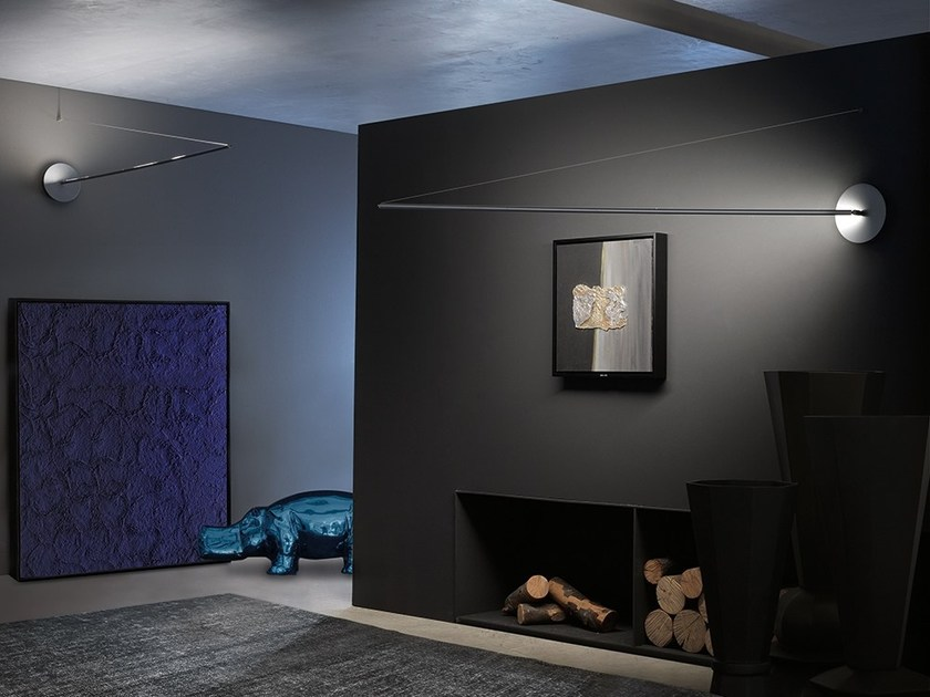 Metal wall lamp LANCIA by Adriani e Rossi edizioni
