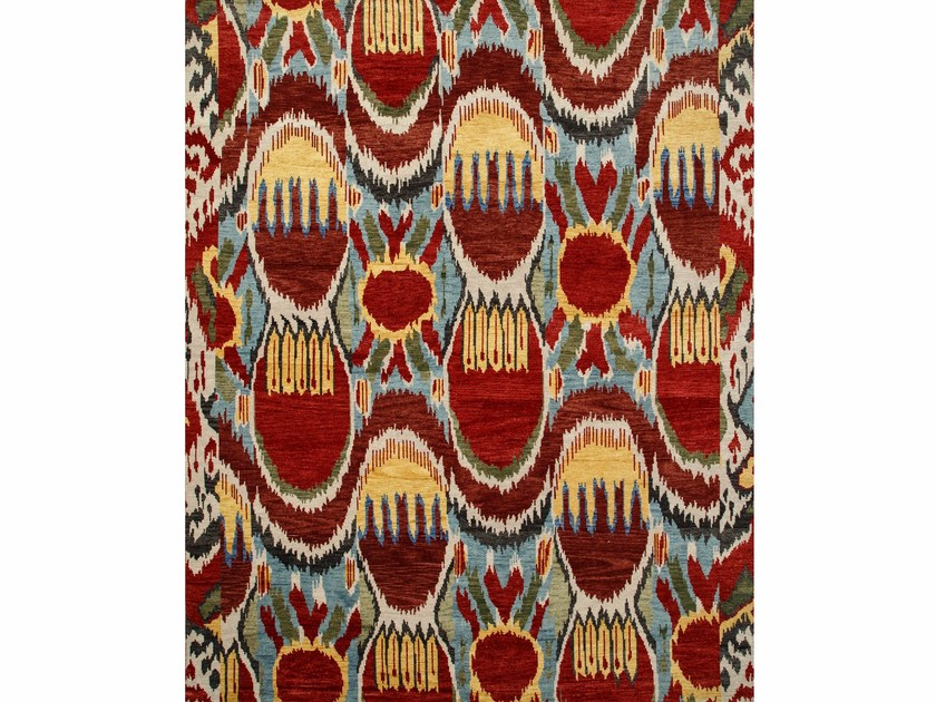Wool rug LANCIA LCA-09 Milky Blue/Velvet Red by Jaipur Rugs