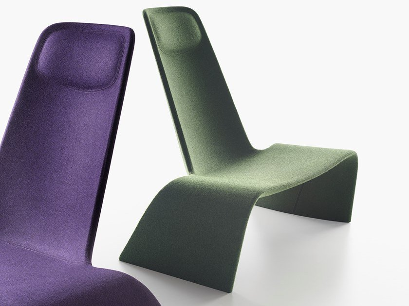 Lounge chair in tessuto LAND | Poltrona in tessuto by Plank
