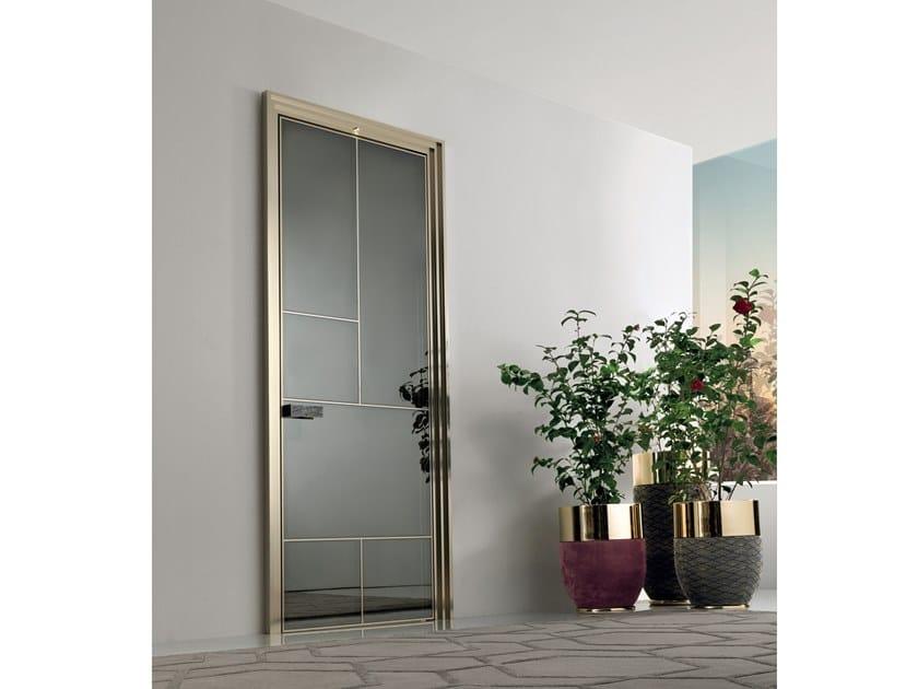 Hinged glass door LAND | Hinged door by Longhi