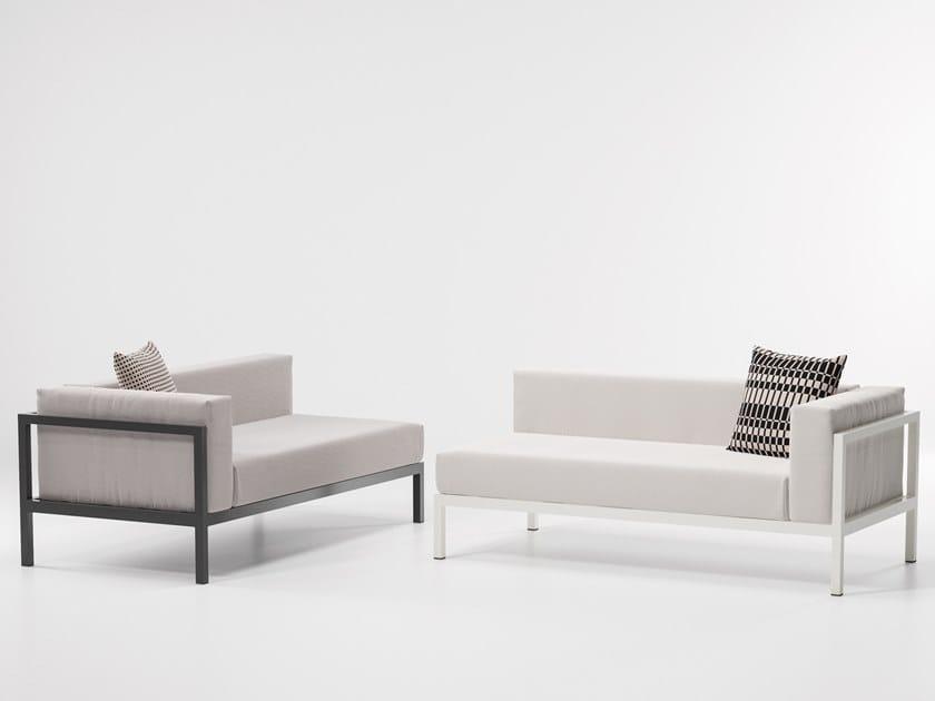 Modular fabric garden sofa LANDSCAPE   Garden sofa by KETTAL