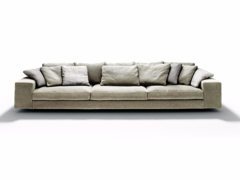 Fabric sofa with chaise longue LANDSCAPE by DE PADOVA