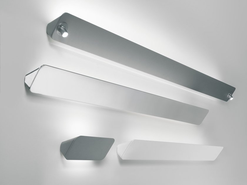 LED indirect light aluminium wall lamp LANE by LUCEPLAN