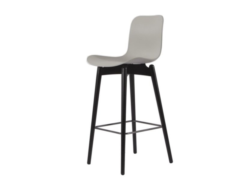 High plastic barstool LANGUE BAR by NORR11