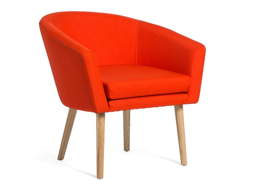 Fabric chair with armrests LANSTER by meeloa