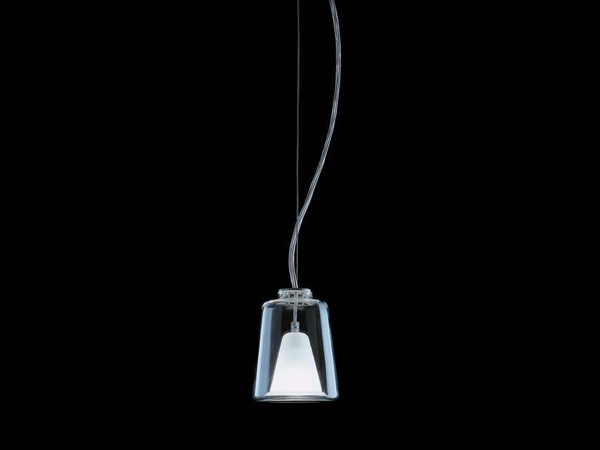 Contemporary style glass and aluminium pendant lamp LANTERNINA - 471 by Oluce