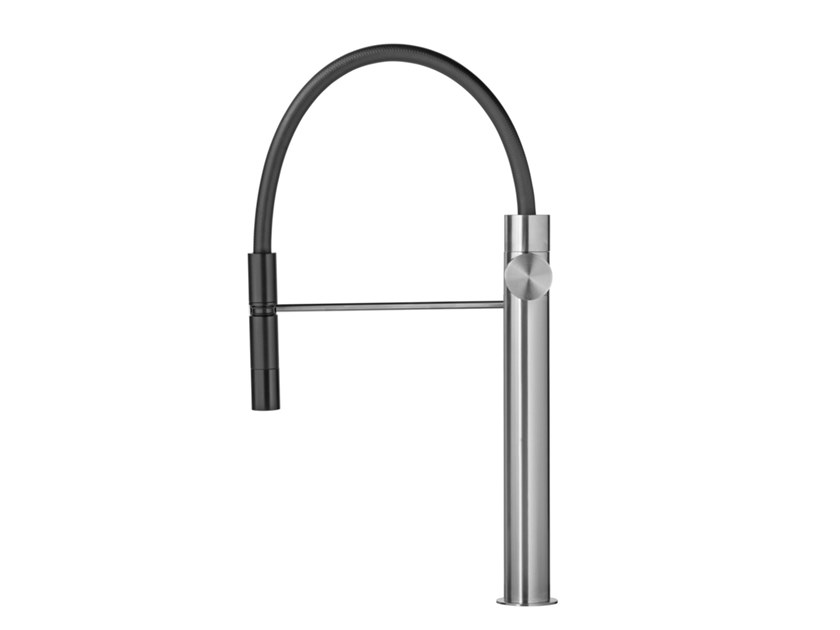 Professional stainless steel kitchen mixer tap with swivel spout LAPA T7.57 | Kitchen mixer tap by Water Evolution