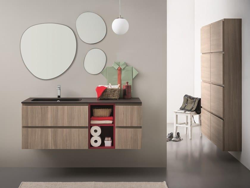 Mobile lavabo sospeso con cassetti LAPIS COMP. 4 by Birex