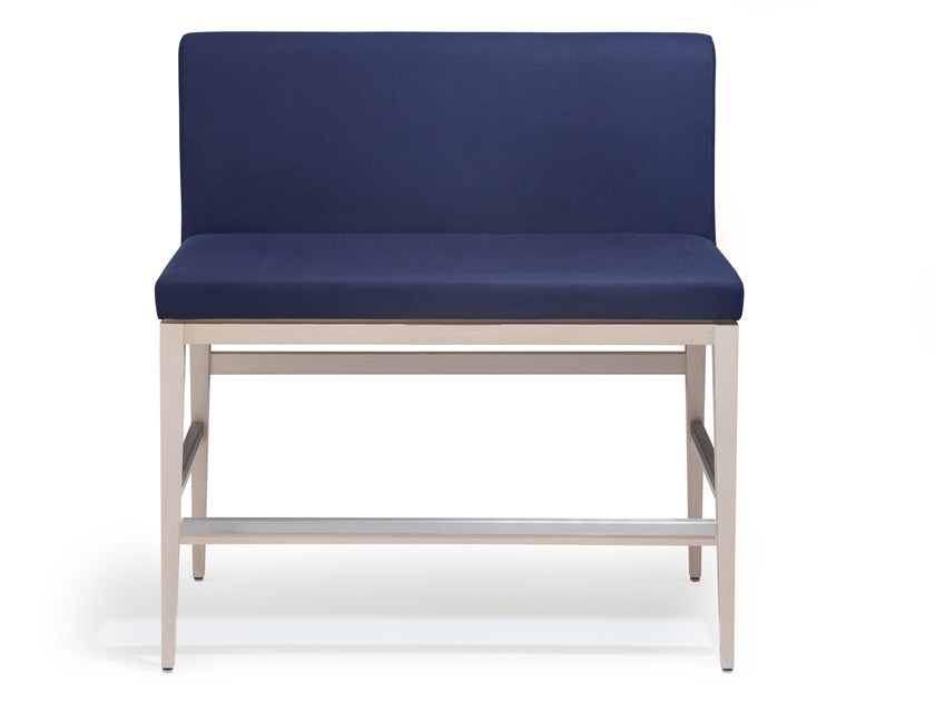 Fabric bench with back LARA | Bench with back by Blifase
