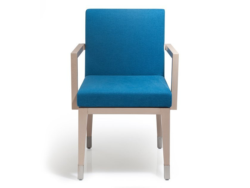 Fabric chair with armrests LARA | Chair with armrests by Blifase