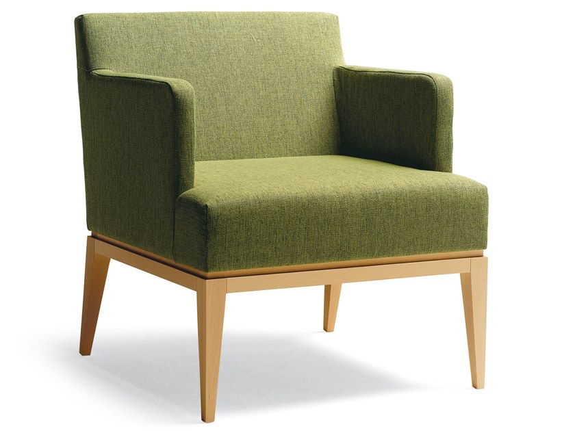 Fabric easy chair with armrests LARA   Easy chair with armrests by Blifase