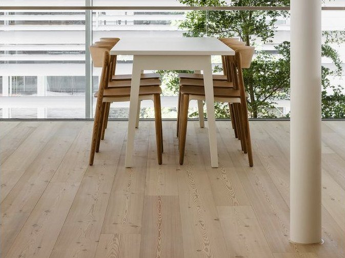 Larch flooring LARCH - LYE TREATED/ WHITE OIL by mafi