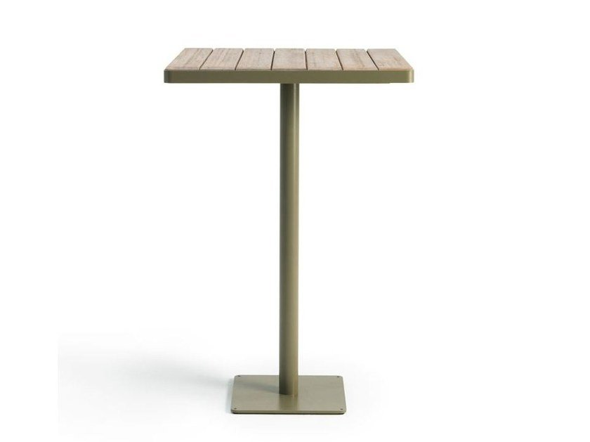 Square teak high table LAREN | High table by Ethimo