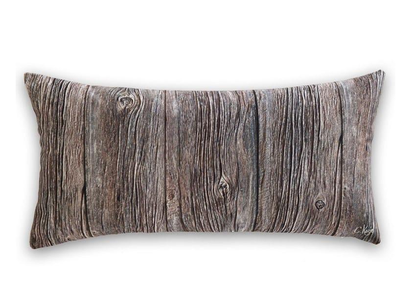 Rectangular polyester cushion LARGE OLD WOOD PLANKS by Koziel