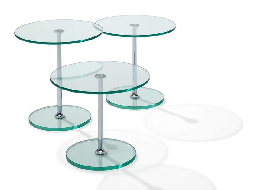 Glass side table LARGO by Draenert