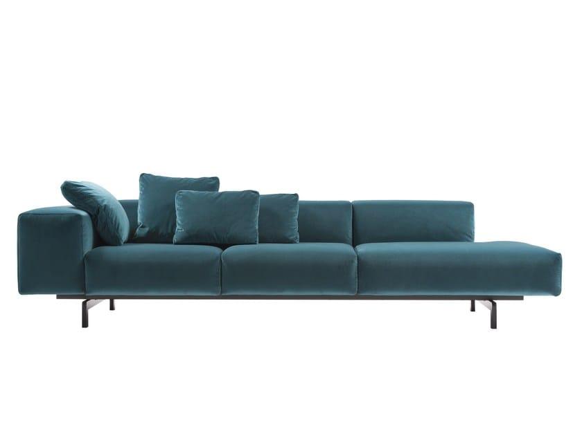 Sectional velvet sofa LARGO by Kartell